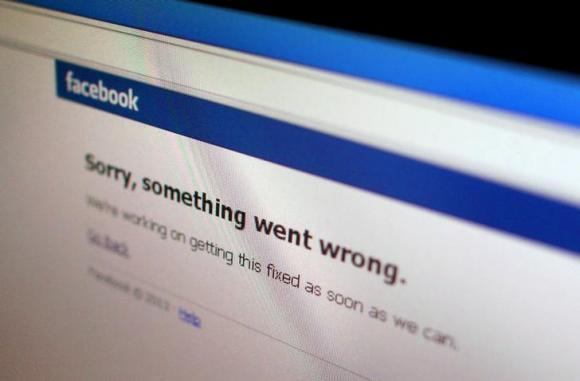 Facebook service disrupted for visitors
