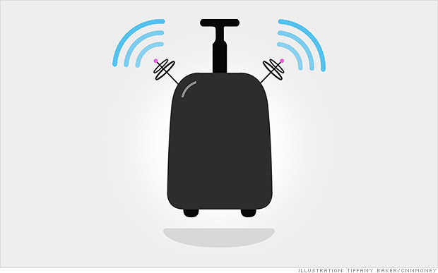 Smart luggage will text you when it gets lost