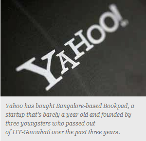 Yahoo buys out Bangalore startup Bookpad