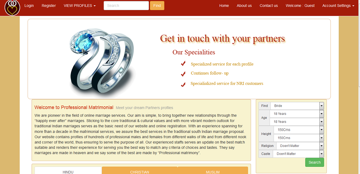 Professional Matrimonial , online profile management system developed for the matrimonial company. It was an good experience to develop such…